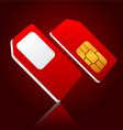 Mobile sim cards vector image