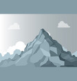 mountain landscape alpine mountain graphic top vector image vector image