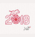 new years 2018 polygonal line and blooming vector image vector image