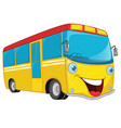 of cartoon bus vector image