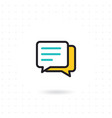 online chat icon vector image vector image