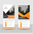 orange black business roll up banner flat design vector image vector image