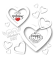 paper heart banner vector image vector image