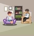 patient talking to psychologist vector image