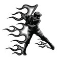 powerful baseball hitter right handed vector image