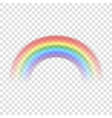 Rainbow icon realistic 1 vector image