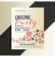 red and black christmas flyer design template vector image vector image
