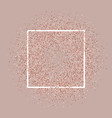 rose gold glitter background with white frame