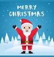 santa claus in christmas snow scene vector image