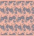 seamless floral pattern with ropes ribbons vector image vector image