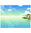 Seaside Homes Background vector image
