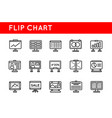 set flip chart office icons icons for all vector image