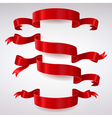 Set of Red Satin Ribbons vector image vector image