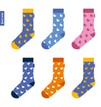 Set of socks with ducks Original hipster design vector image vector image