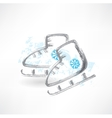 skates grunge icon vector image vector image
