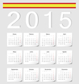 Spanish 2015 calendar with stickers vector image vector image