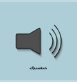 speaker black and gray color on a blue background vector image