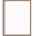 spiral notebook paper vector image vector image