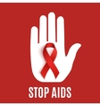 Stop AIDS background vector image vector image