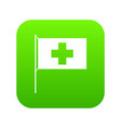 switzerland flag icon digital green vector image vector image