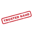 Trusted Band Rubber Stamp vector image vector image