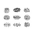 typography motivational phrases set vector image vector image