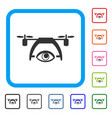 video spy drone framed icon vector image vector image