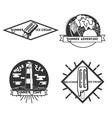 vintage summer season emblems vector image vector image