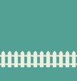 white fence in flat style vector image vector image