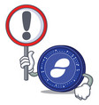 with sign status coin character cartoon vector image vector image