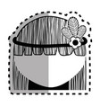 woman with flower in the hair icon vector image vector image