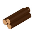 wooden log isometric vector image vector image
