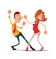 young couple dancing vector image