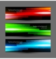 Set of glossy banners vector image