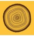 The tree rings icon Tree Rings symbol Flat vector image