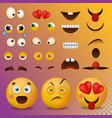 yellow smiley face character for your scenes vector image