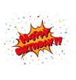 Happy birthday celebration on comic book style vector image
