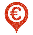 euro geotargeting icon grunge watermark vector image