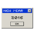 2016 computer message vector image vector image