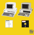 80s personal computer vector image