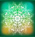 abstract leaf branch snowflake vector image