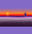 abstract purple field landscape background vector image vector image
