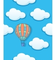 Air baloon and clouds seamless vector image vector image