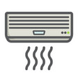 air conditioner colorful line icon electric vector image vector image