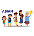 asiatic generation female people person vector image vector image