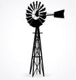 australian metal windmill windpump silhouette vector image