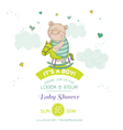 baby shower card - with bear and horse
