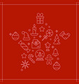 background with different christmas and new vector image vector image