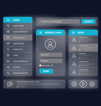 blue mobile user interface design vector image vector image