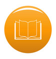book learning icon orange vector image vector image